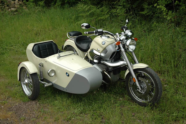 bmw 1200c with a sidecar - custom bike