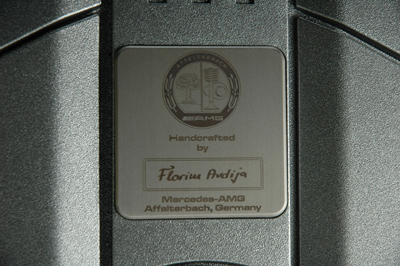 signature plate on the engine cover