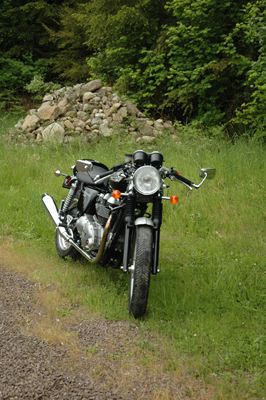 front view of a thruxton